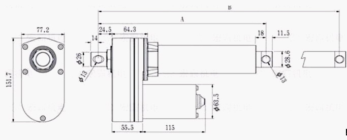 datesheet of TGC 10000N actuator